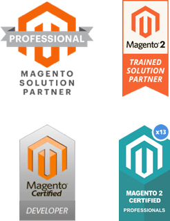 Professional Magento Solution Partner - Magento 2 Trained Solution Partner - Magento Certified Developer - Magento 2 Certified Solution Specialist