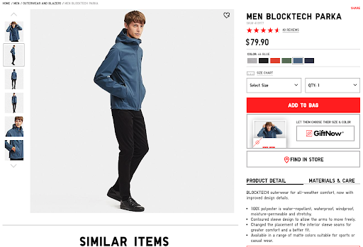 uniqlo product page