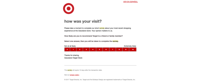 transactional email - survey email